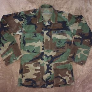 Vintage authentic Camo Marines Army utility jacket